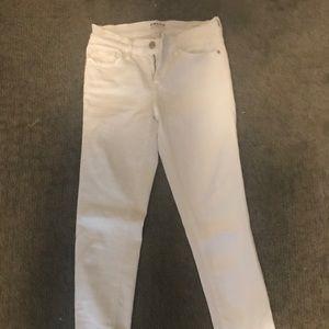 Frame White Le Skinny Jeans